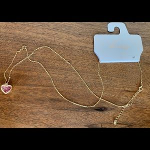 Gold Colored Heart Necklace